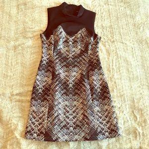 Karen Millen Dress - b&w, hints of orange